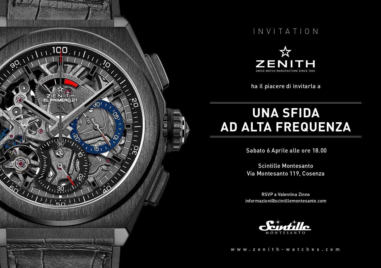 Presentazione collezione Zenith