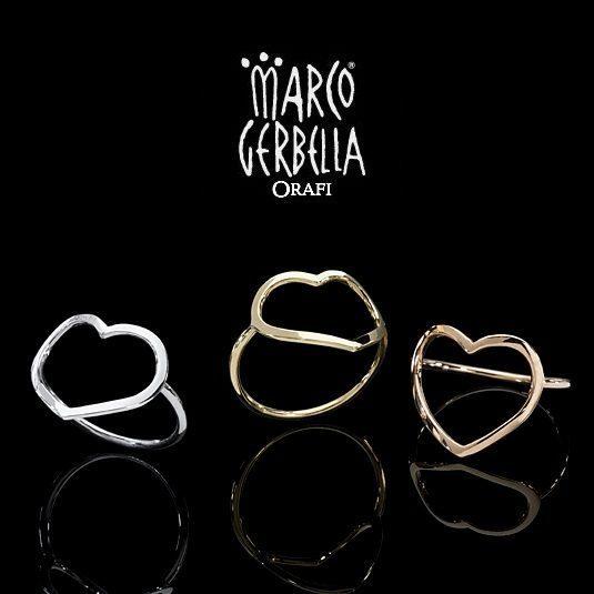 Marco Gerbella Orafi - Collezione Piccole Gioie - Anelli in oro bianco, giallo e rosa 18 Kt