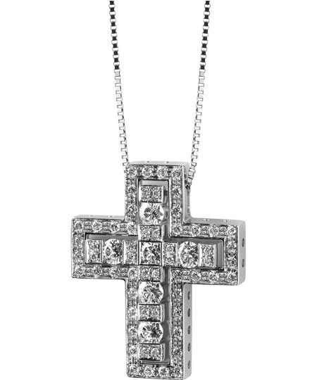 COLLANA CROCE CON DIAMANTI