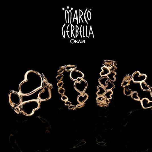 Marco Gerbella Orafi - Collezione Piccole Gioie - Anelli eternity in oro giallo e rosa 18 Kt