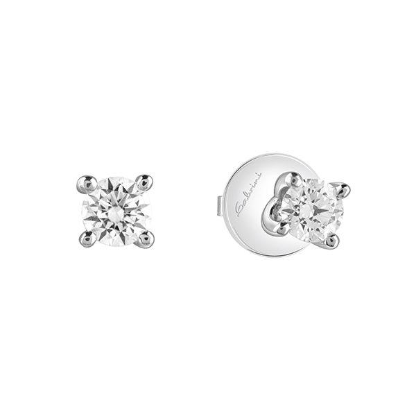 New york - Orecchini in oro bianco e diamanti.