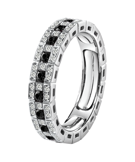 ANELLO ETERNAL COMFORT IN ORO BIANCO CON DIAMANTI BLACK