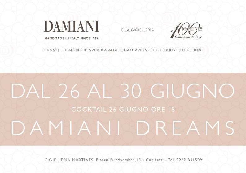 Evento Damiani Dreams 26 Giugno ore 18