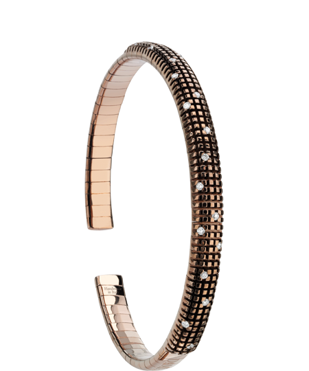 BRACCIALE IN ORO BROWN CON DIAMANTI