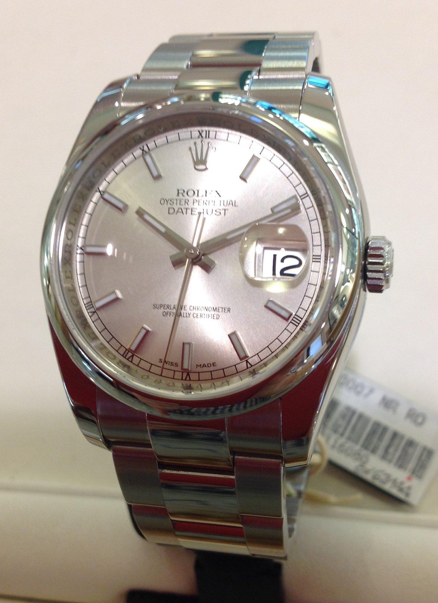 Rolex Datejust 36 mm  ref 116200